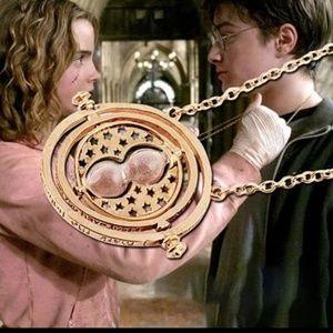 Harry Potter Gold-Tone Time Turner Necklace